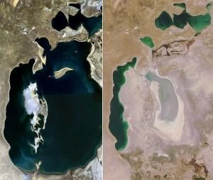 Morze Aralskie wcześniej i dziś
