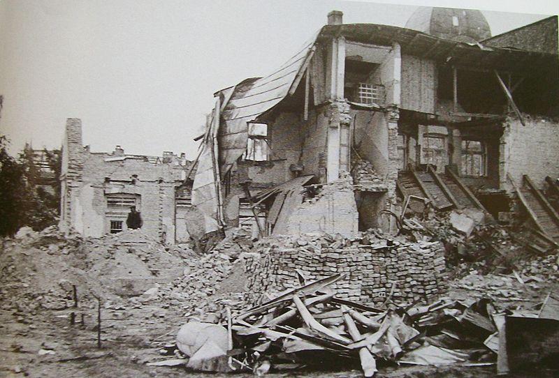 Ruiny w Wieluniu po II wojnie światowej