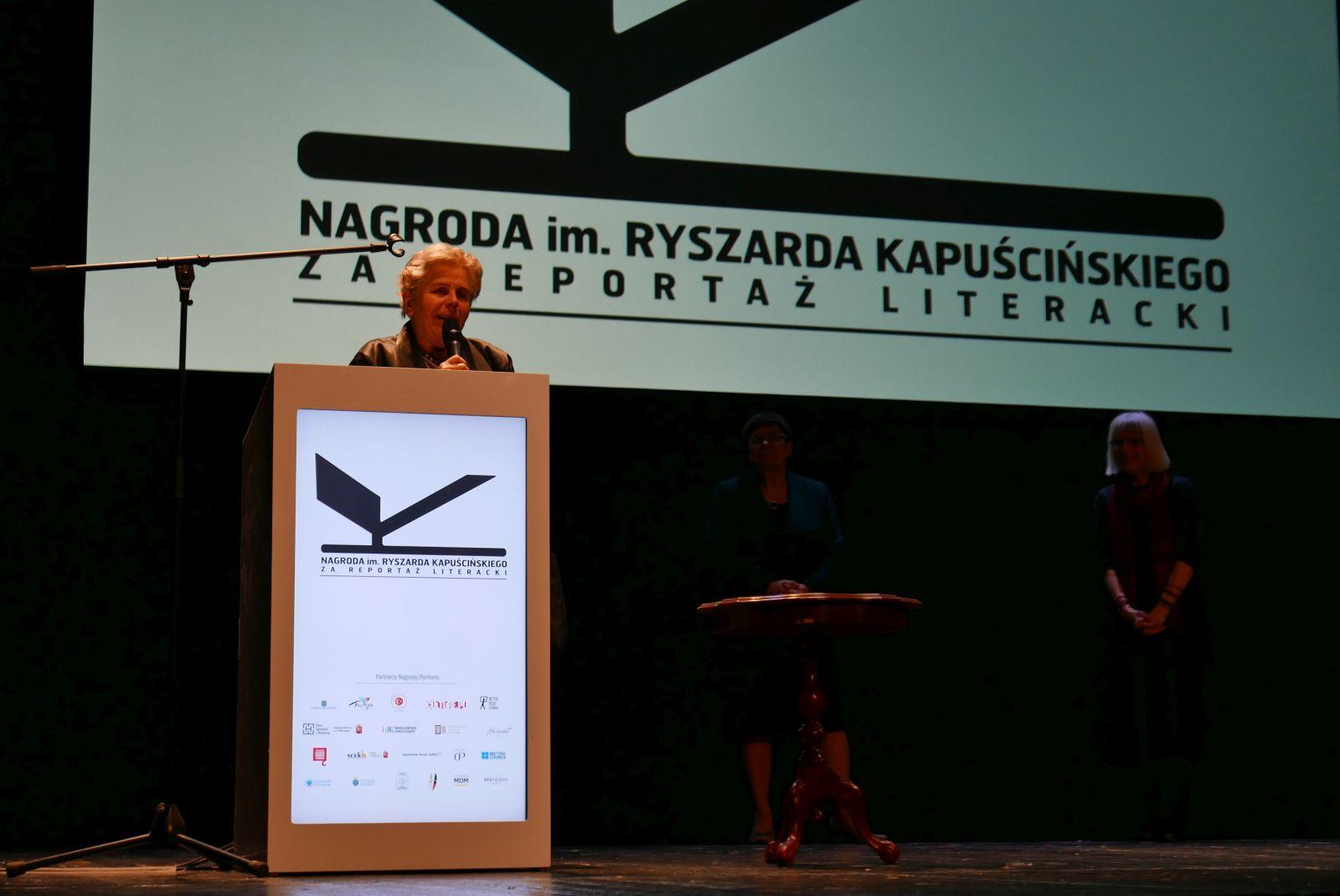Alicja Kapuścińska, gala wręczenia Nagrody im. Ryszarda Kapuścińskiego