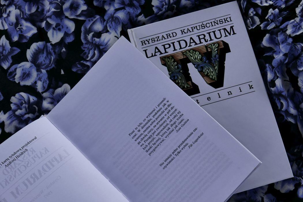 Lapidaria Ryszard Kapuściński